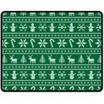 Ugly Christmas Double Sided Fleece Blanket (Medium)  60 x50 Blanket Back