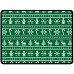 Ugly Christmas Double Sided Fleece Blanket (Large)  80 x60 Blanket Front