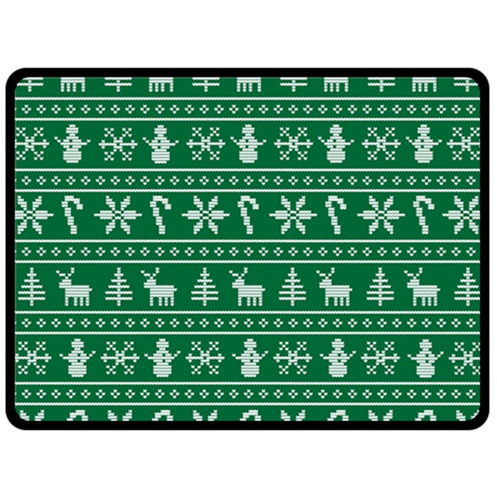 Ugly Christmas Double Sided Fleece Blanket (Large)
