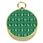 Ugly Christmas Gold Compasses Front