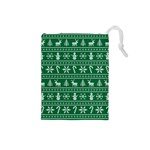 Ugly Christmas Drawstring Pouches (Small)  Front