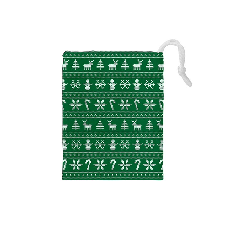 Ugly Christmas Drawstring Pouches (Small)