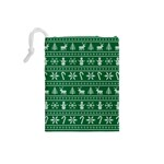Ugly Christmas Drawstring Pouches (Small)  Back