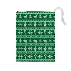 Ugly Christmas Drawstring Pouches (Large)