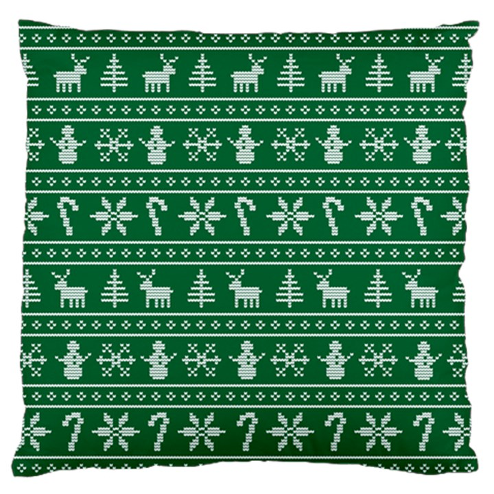 Ugly Christmas Large Flano Cushion Case (One Side)