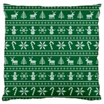 Ugly Christmas Large Flano Cushion Case (Two Sides) Back
