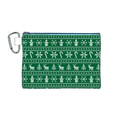 Ugly Christmas Canvas Cosmetic Bag (M)