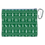 Ugly Christmas Canvas Cosmetic Bag (XXL) Back