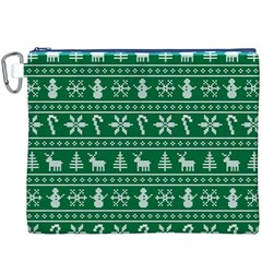 Ugly Christmas Canvas Cosmetic Bag (XXXL)