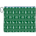 Ugly Christmas Canvas Cosmetic Bag (XXXL) Front