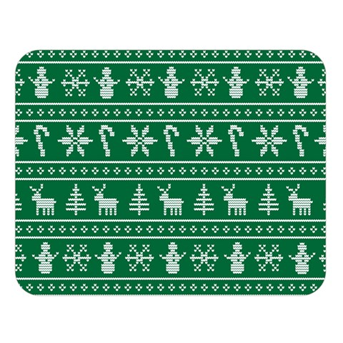 Ugly Christmas Double Sided Flano Blanket (Large)
