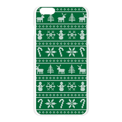 Ugly Christmas Apple Seamless iPhone 6 Plus/6S Plus Case (Transparent)