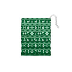 Ugly Christmas Drawstring Pouches (XS)