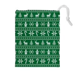 Ugly Christmas Drawstring Pouches (Extra Large)