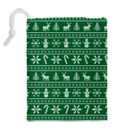 Ugly Christmas Drawstring Pouches (Extra Large) Back