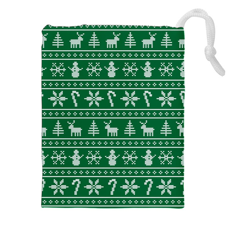 Ugly Christmas Drawstring Pouches (XXL)