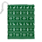 Ugly Christmas Drawstring Pouches (XXL) Back