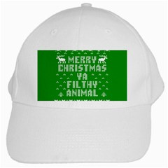 Ugly Christmas Ya Filthy Animal White Cap