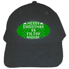 Ugly Christmas Ya Filthy Animal Black Cap
