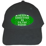 Ugly Christmas Ya Filthy Animal Black Cap Front