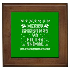 Ugly Christmas Ya Filthy Animal Framed Tiles