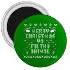 Ugly Christmas Ya Filthy Animal 3  Magnets