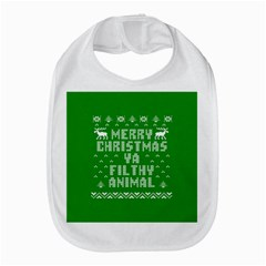 Ugly Christmas Ya Filthy Animal Bib