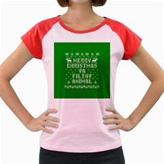 Ugly Christmas Ya Filthy Animal Women s Cap Sleeve T-Shirt