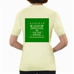 Ugly Christmas Ya Filthy Animal Women s Yellow T-Shirt Back