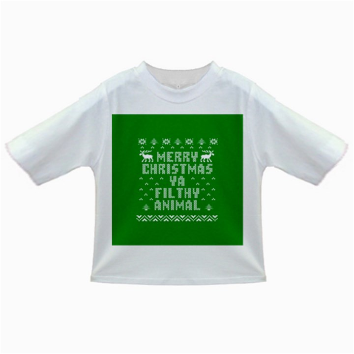 Ugly Christmas Ya Filthy Animal Infant/Toddler T-Shirts