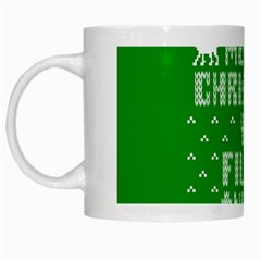 Ugly Christmas Ya Filthy Animal White Mugs