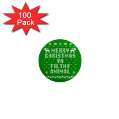 Ugly Christmas Ya Filthy Animal 1  Mini Magnets (100 pack)
