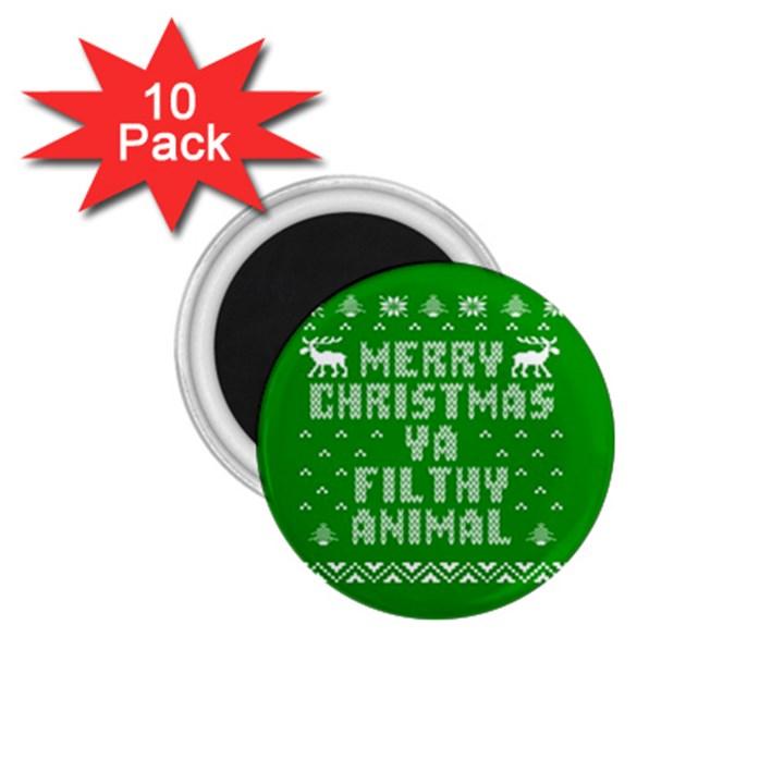 Ugly Christmas Ya Filthy Animal 1.75  Magnets (10 pack)