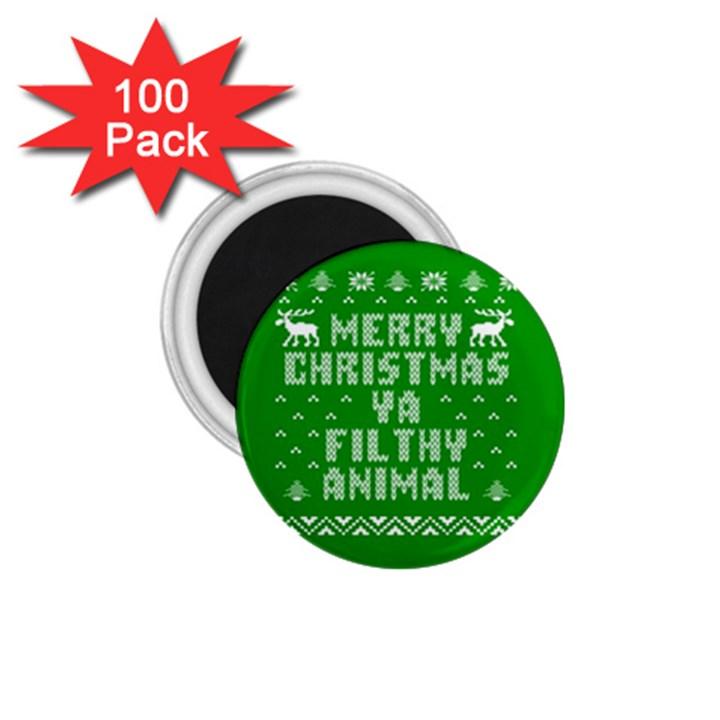 Ugly Christmas Ya Filthy Animal 1.75  Magnets (100 pack)
