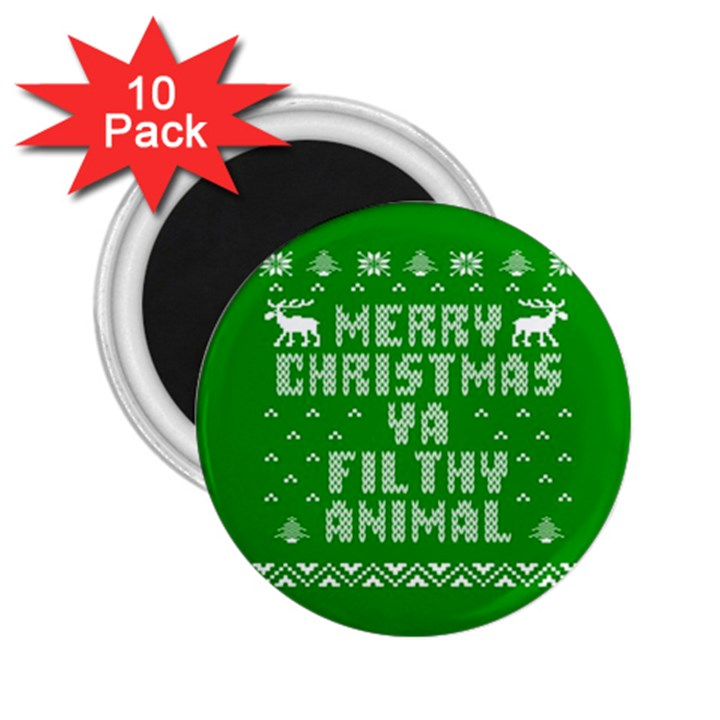 Ugly Christmas Ya Filthy Animal 2.25  Magnets (10 pack)