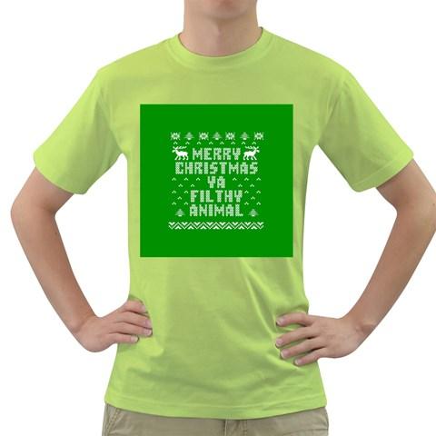 Ugly Christmas Ya Filthy Animal Green T-Shirt