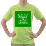 Ugly Christmas Ya Filthy Animal Green T-Shirt Front
