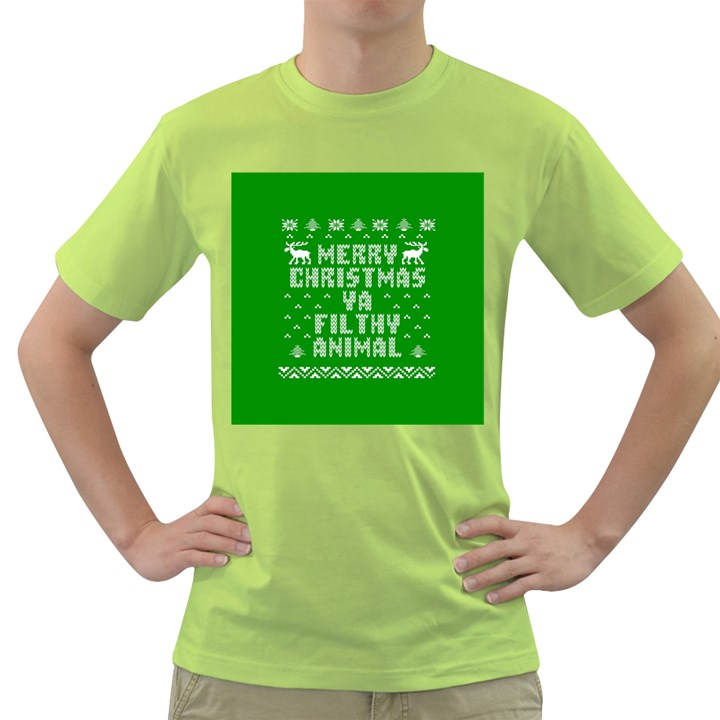 Ugly Christmas Ya Filthy Animal Green T-Shirt