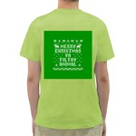 Ugly Christmas Ya Filthy Animal Green T-Shirt Back