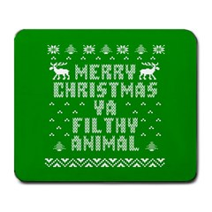 Ugly Christmas Ya Filthy Animal Large Mousepads