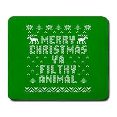 Ugly Christmas Ya Filthy Animal Large Mousepads