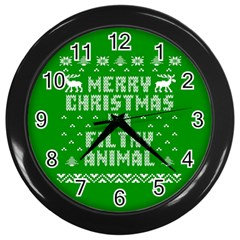 Ugly Christmas Ya Filthy Animal Wall Clocks (Black)