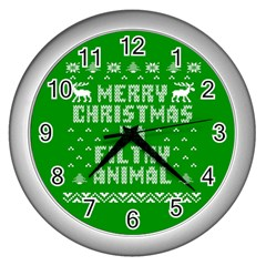 Ugly Christmas Ya Filthy Animal Wall Clocks (silver)
