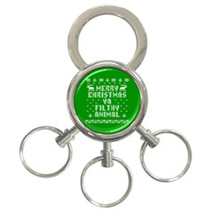 Ugly Christmas Ya Filthy Animal 3 Ring Key Chains
