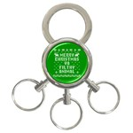 Ugly Christmas Ya Filthy Animal 3-Ring Key Chains Front