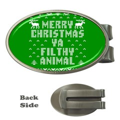 Ugly Christmas Ya Filthy Animal Money Clips (Oval)