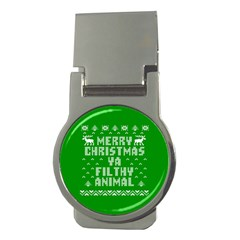 Ugly Christmas Ya Filthy Animal Money Clips (Round)