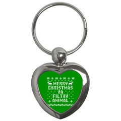 Ugly Christmas Ya Filthy Animal Key Chains (Heart)