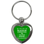 Ugly Christmas Ya Filthy Animal Key Chains (Heart)  Front
