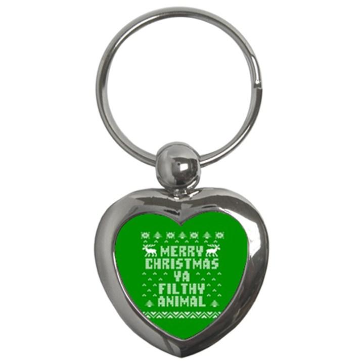 Ugly Christmas Ya Filthy Animal Key Chains (Heart)